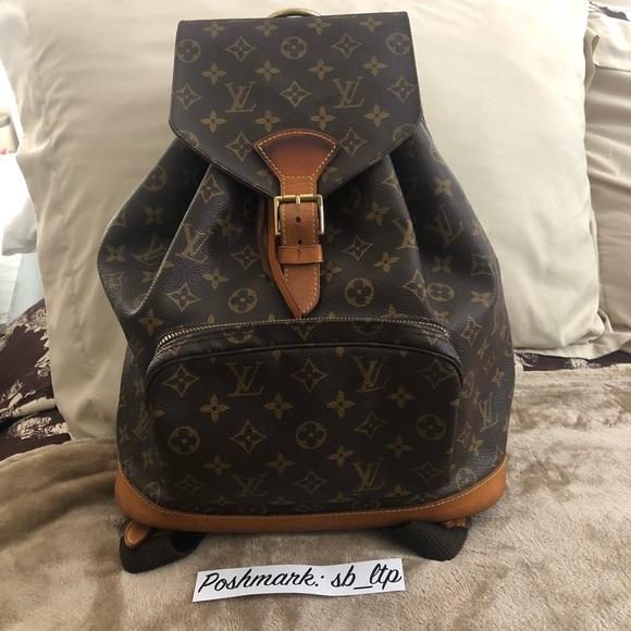 dfebdbfbaf74 Louis Vuitton Handbags - Vintage Louis Vuitton Montsouris GM Backpack